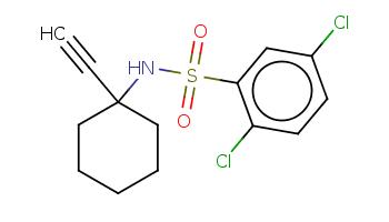 C#CC1(CCCCC1)NS(=O)(=O)c2cc(ccc2Cl)Cl