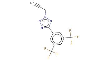 C#CCn1nc(nn1)c2cc(cc(c2)C(F)(F)F)C(F)(F)F