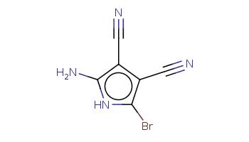 C(#N)c1c(c([nH]c1N)Br)C#N