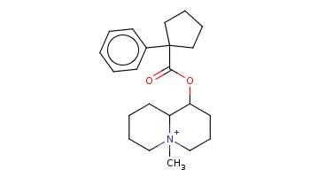 C[N+]12CCCCC1C(CCC2)OC(=O)C3(CCCC3)c4ccccc4