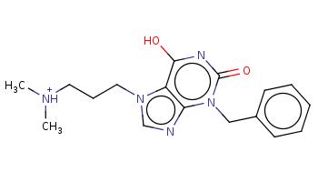 C[NH+](C)CCCn1cnc2c1c(nc(=O)n2Cc3ccccc3)O