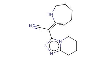 C1CCC(=C(C#N)c2nnc3n2CCCC3)NCC1