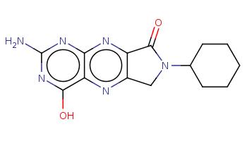 C1CCC(CC1)N2Cc3c(nc4c(n3)c(nc(n4)N)O)C2=O