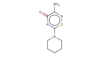 C1CCN(CC1)c2nc(=O)c(ns2)N