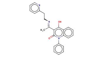 CC(=NCCc1ccccn1)c2c(c3ccccc3n(c2=O)c4ccccc4)O