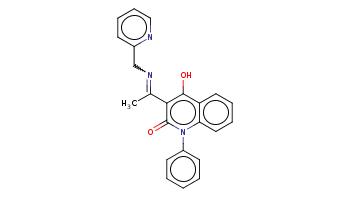 CC(=NCc1ccccn1)c2c(c3ccccc3n(c2=O)c4ccccc4)O