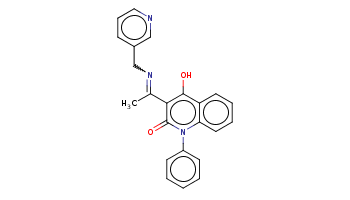 CC(=NCc1cccnc1)c2c(c3ccccc3n(c2=O)c4ccccc4)O