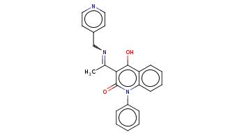 CC(=NCc1ccncc1)c2c(c3ccccc3n(c2=O)c4ccccc4)O