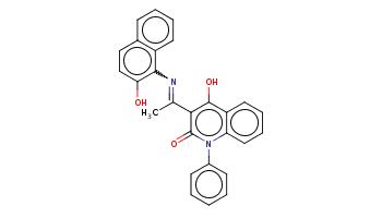 CC(=Nc1c2ccccc2ccc1O)c3c(c4ccccc4n(c3=O)c5ccccc5)O
