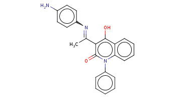 CC(=Nc1ccc(cc1)N)c2c(c3ccccc3n(c2=O)c4ccccc4)O