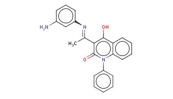 CC(=Nc1cccc(c1)N)c2c(c3ccccc3n(c2=O)c4ccccc4)O
