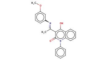 CC(=Nc1cccc(c1)OC)c2c(c3ccccc3n(c2=O)c4ccccc4)O