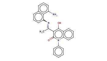 CC(=Nc1cccc2c1c(ccc2)N)c3c(c4ccccc4n(c3=O)c5ccccc5)O