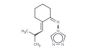CC(C)C=C1CCCCC1=Nn2cnnc2