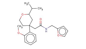 CC(C)C1CC(CCO1)(CC(=O)NCc2ccco2)c3ccccc3OC