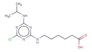 CC(C)Nc1nc(nc(n1)Cl)NCCCCCC(=O)O