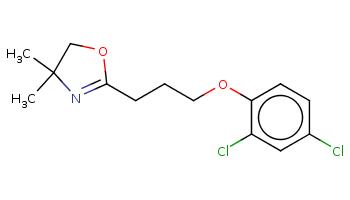 CC1(COC(=N1)CCCOc2ccc(cc2Cl)Cl)C