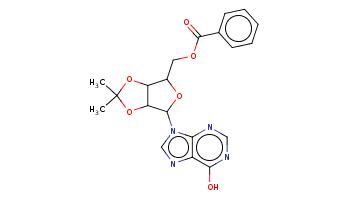 CC1(OC2C(OC(C2O1)n3cnc4c3ncnc4O)COC(=O)c5ccccc5)C