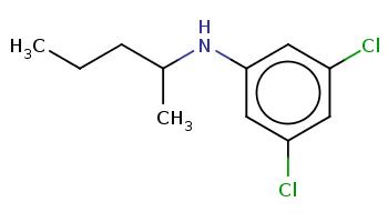 CCCC(C)Nc1cc(cc(c1)Cl)Cl