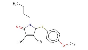 CCCCN1C(C(=C(C1=O)C)C)Sc2ccc(cc2)OC