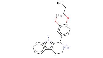 CCCOc1ccc(cc1OC)C2c3c(c4ccccc4[nH]3)CC[NH2+]2
