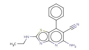CCNc1nc2c(s1)c(c(c(n2)N)C#N)c3ccccc3
