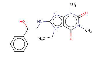 CCn1c2c(nc1NCC(c3ccccc3)O)n(c(=O)n(c2=O)C)C