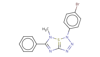 CN1C(=NC2=S1N(N=N2)c3ccc(cc3)Br)c4ccccc4