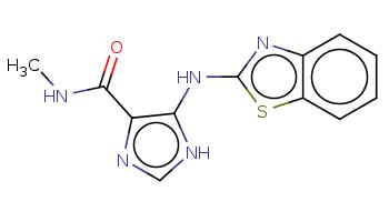 CNC(=O)c1c([nH]cn1)Nc2nc3ccccc3s2