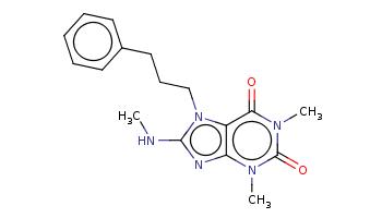 CNc1nc2c(n1CCCc3ccccc3)c(=O)n(c(=O)n2C)C