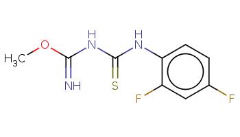 COC(=N)NC(=S)Nc1ccc(cc1F)F
