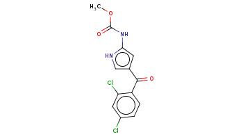 COC(=O)Nc1cc(c[nH]1)C(=O)c2ccc(cc2Cl)Cl
