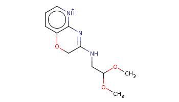 COC(CNC1=Nc2c(ccc[nH+]2)OC1)OC