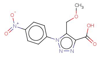 COCc1c(nnn1c2ccc(cc2)[N+](=O)[O-])C(=O)O