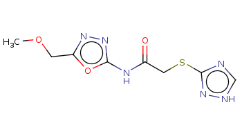 COCc1nnc(o1)NC(=O)CSc2nc[nH]n2