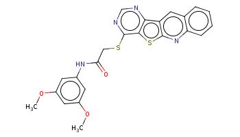 COc1cc(cc(c1)OC)NC(=O)CSc2c3c(c4cc5ccccc5nc4s3)ncn2