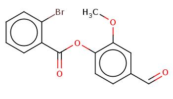 COc1cc(ccc1OC(=O)c2ccccc2Br)C=O