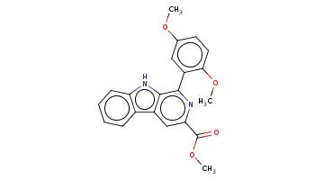 COc1ccc(c(c1)c2c3c(cc(n2)C(=O)OC)c4ccccc4[nH]3)OC