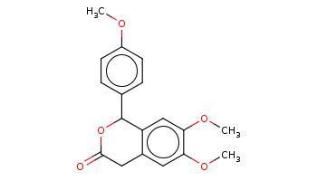 COc1ccc(cc1)C2c3cc(c(cc3CC(=O)O2)OC)OC