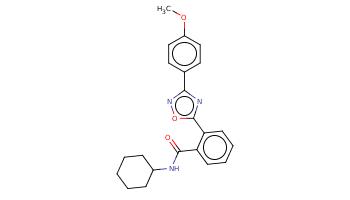 COc1ccc(cc1)c2nc(on2)c3ccccc3C(=O)NC4CCCCC4