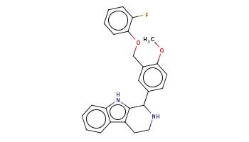 COc1ccc(cc1COc2ccccc2F)C3c4c(c5ccccc5[nH]4)CCN3