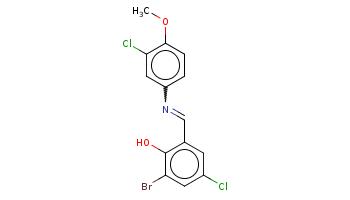 COc1ccc(cc1Cl)N=Cc2cc(cc(c2O)Br)Cl