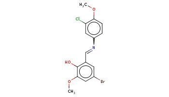 COc1ccc(cc1Cl)N=Cc2cc(cc(c2O)OC)Br