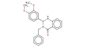 COc1ccc(cc1OC)C2Nc3ccccc3C(=O)N2Cc4ccccc4