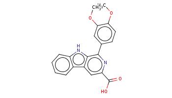 COc1ccc(cc1OC)c2c3c(cc(n2)C(=O)O)c4ccccc4[nH]3
