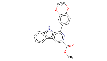 COc1ccc(cc1OC)c2c3c(cc(n2)C(=O)OC)c4ccccc4[nH]3