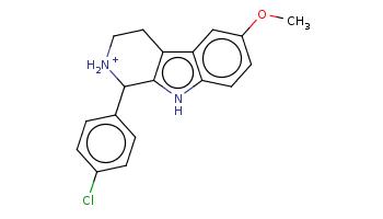 COc1ccc2c(c1)c3c([nH]2)C([NH2+]CC3)c4ccc(cc4)Cl
