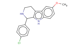 COc1ccc2c(c1)c3c([nH]2)C(NCC3)c4ccc(cc4)Cl