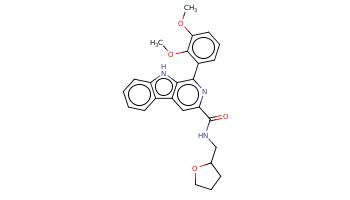 COc1cccc(c1OC)c2c3c(cc(n2)C(=O)NCC4CCCO4)c5ccccc5[nH]3