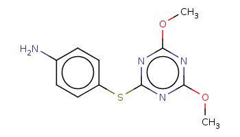 COc1nc(nc(n1)Sc2ccc(cc2)N)OC